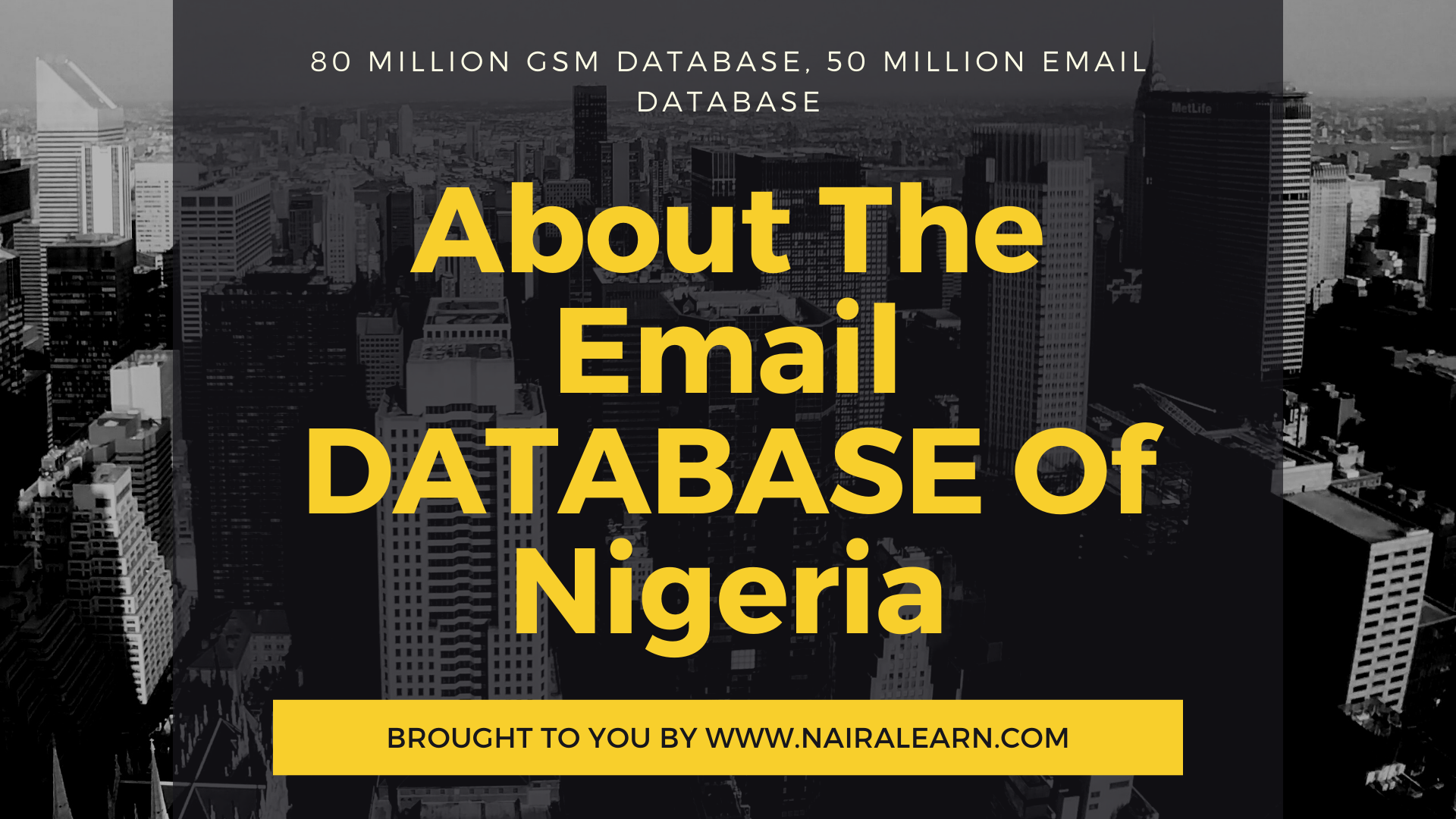 about the email database of Nigeria