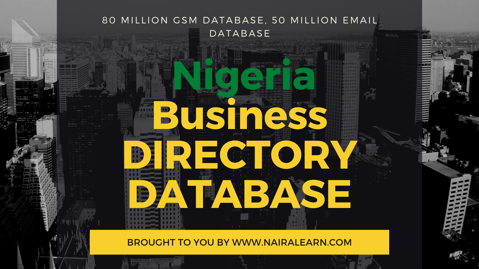 GSM Number, Email Database, GSM Database of Nigeria
