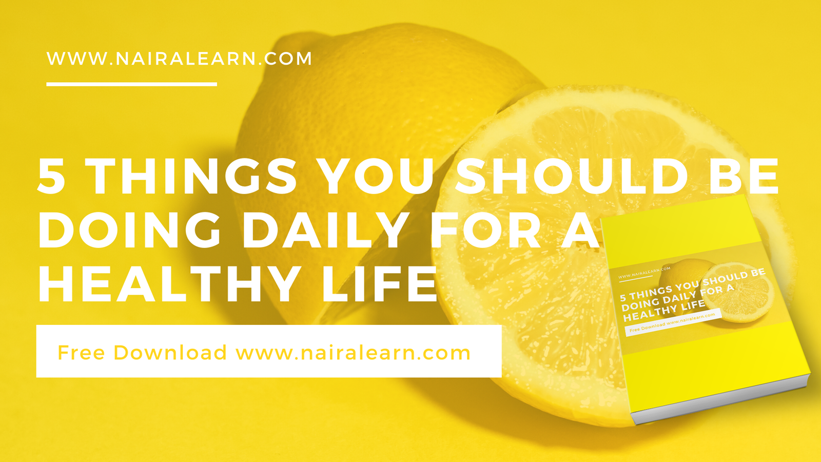 5 Things You Should Be Doing Daily For A Healthy Life, nairalearn