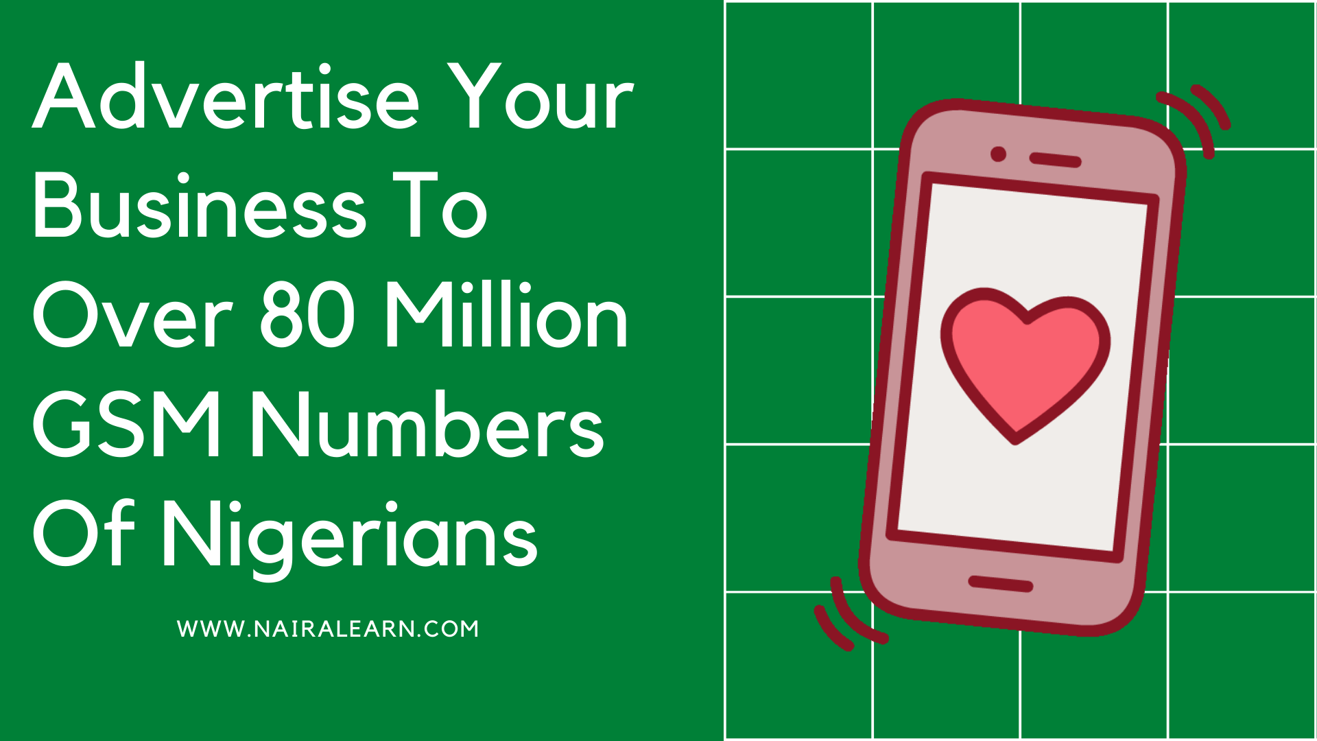 Advertise Your Business To Over 80 Million GSM Numbers Of Nigerians, Database