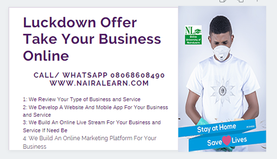 Lockdown Offer, Take Your Business Online