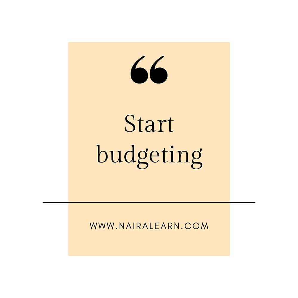 Start-budgeting
