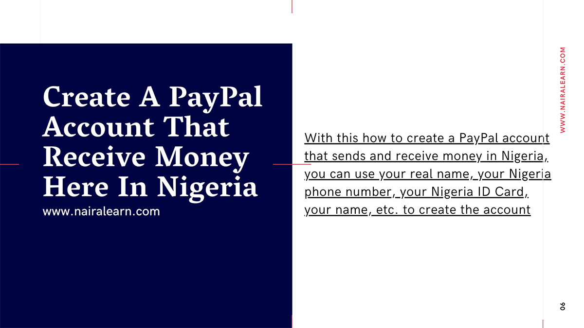 how to open a paypal account that receives money in nigeria