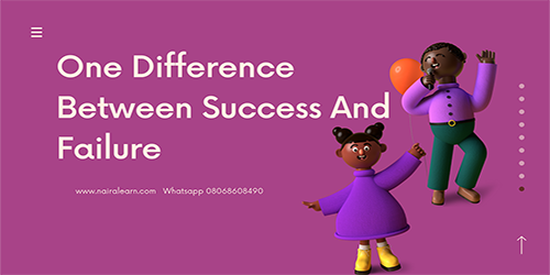 one-diffrence-between-success-and-failure