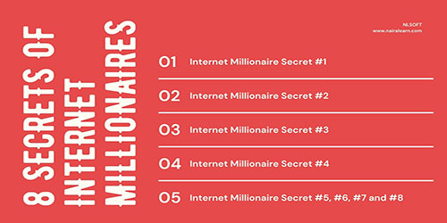 8 Secrets of Internet Millionaires, nairalearn