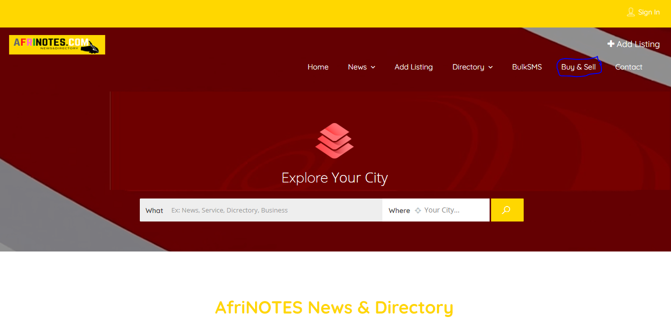 AfriNOTES, Buy and Sell