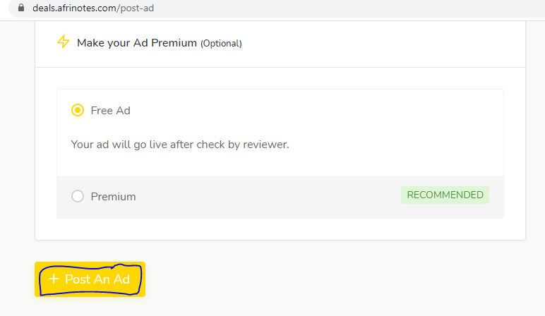 Post An Ad, FREE