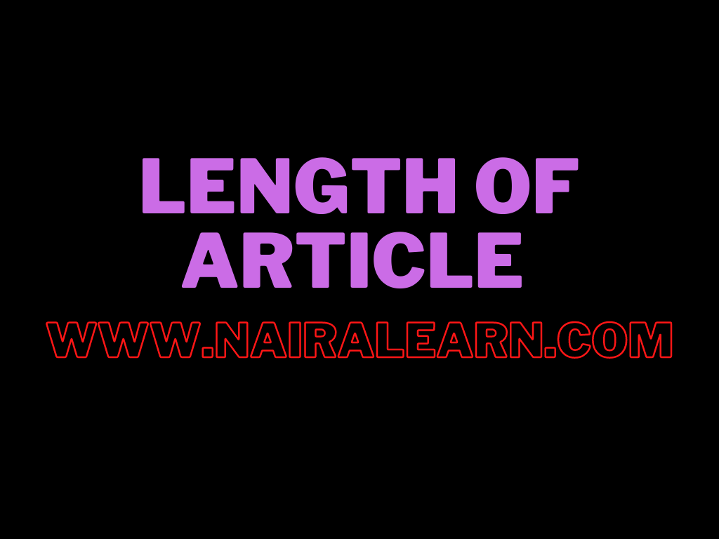 Length of article