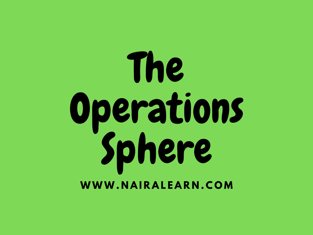 The Operations Sphere