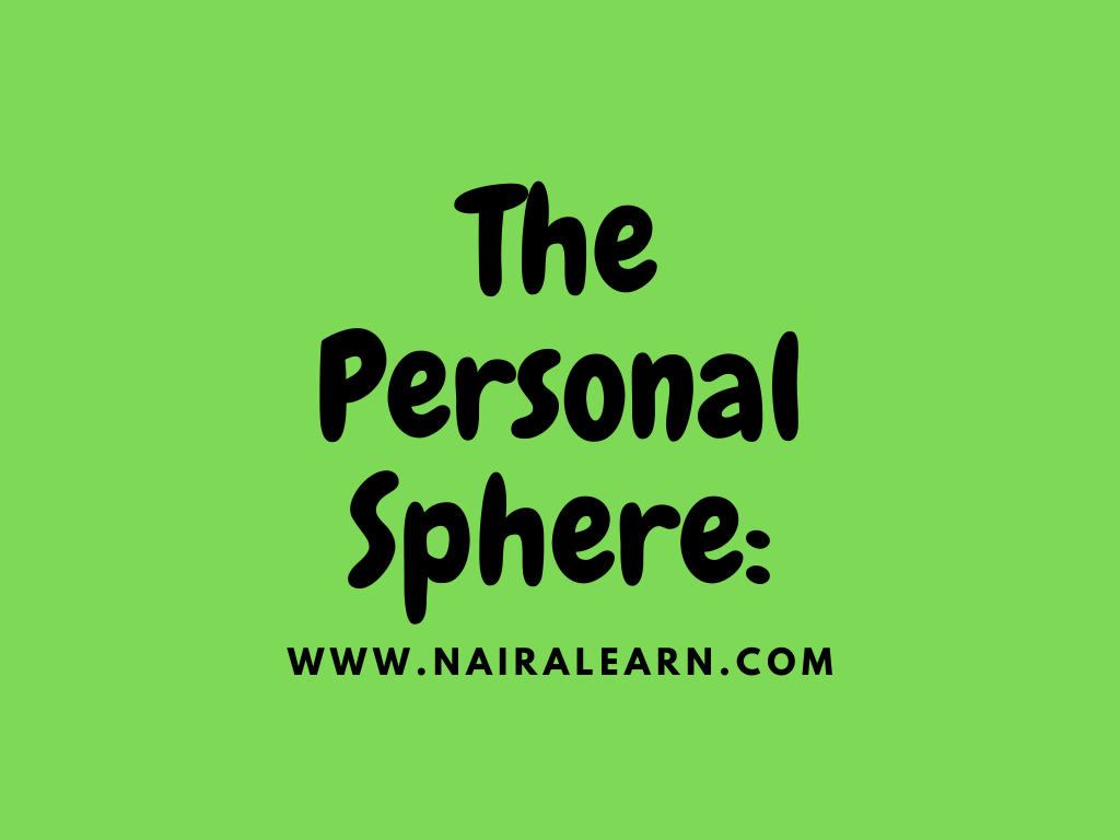 The Personal Sphere