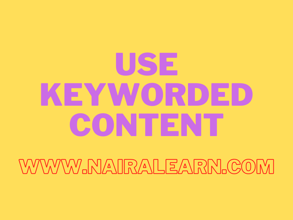 Use Keyworded content