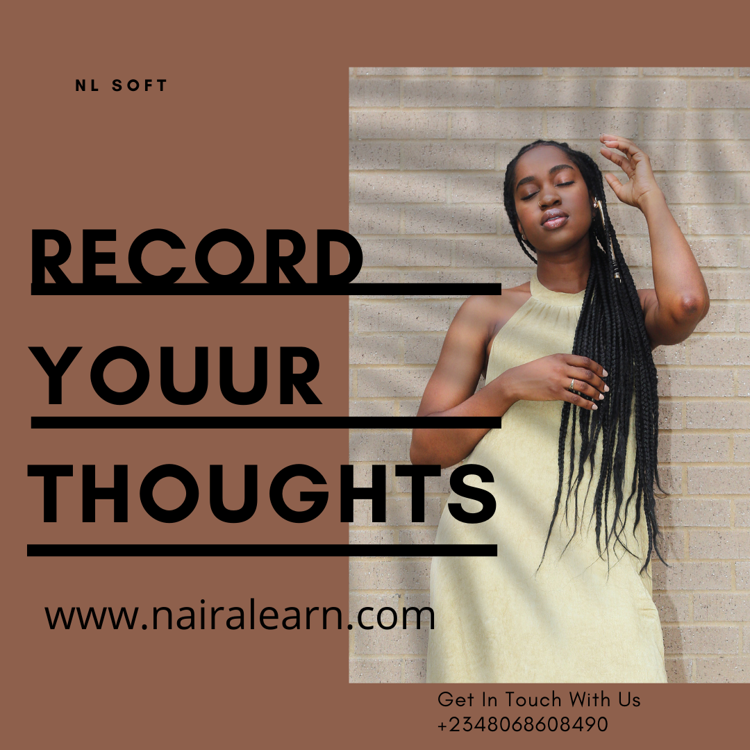 You can record your thoughts and get them transcribed