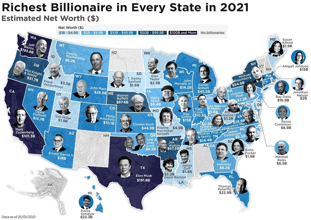 Richest-Billionaire-in-Every-State,-in-America.-Nairalearn