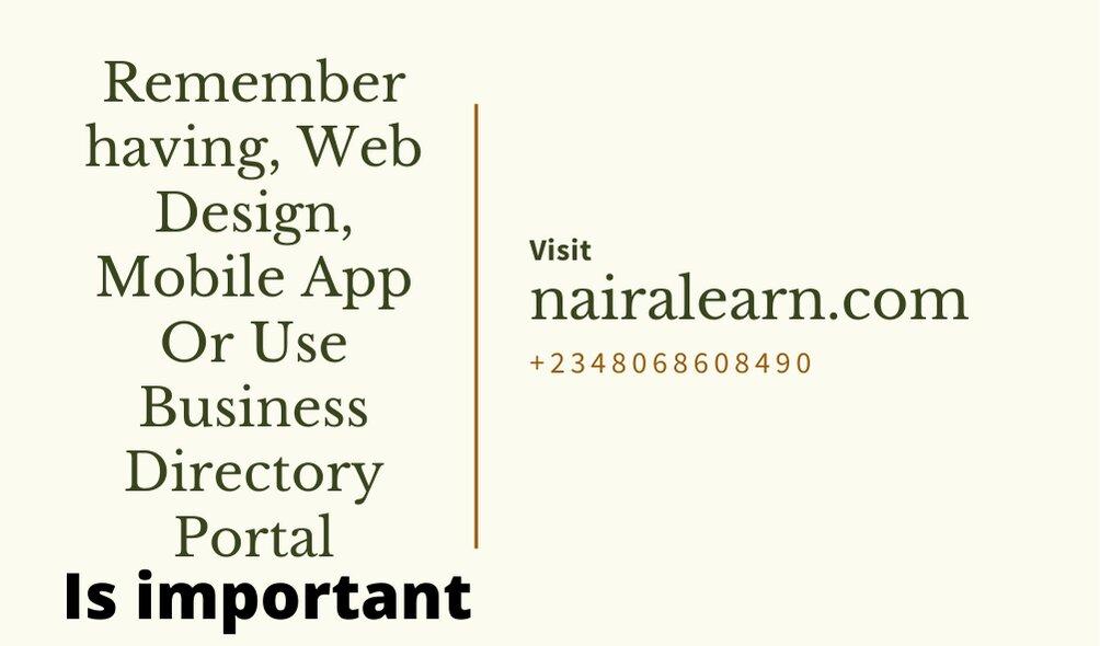 Web Design, Mobile App Or Use Business Directory Portal