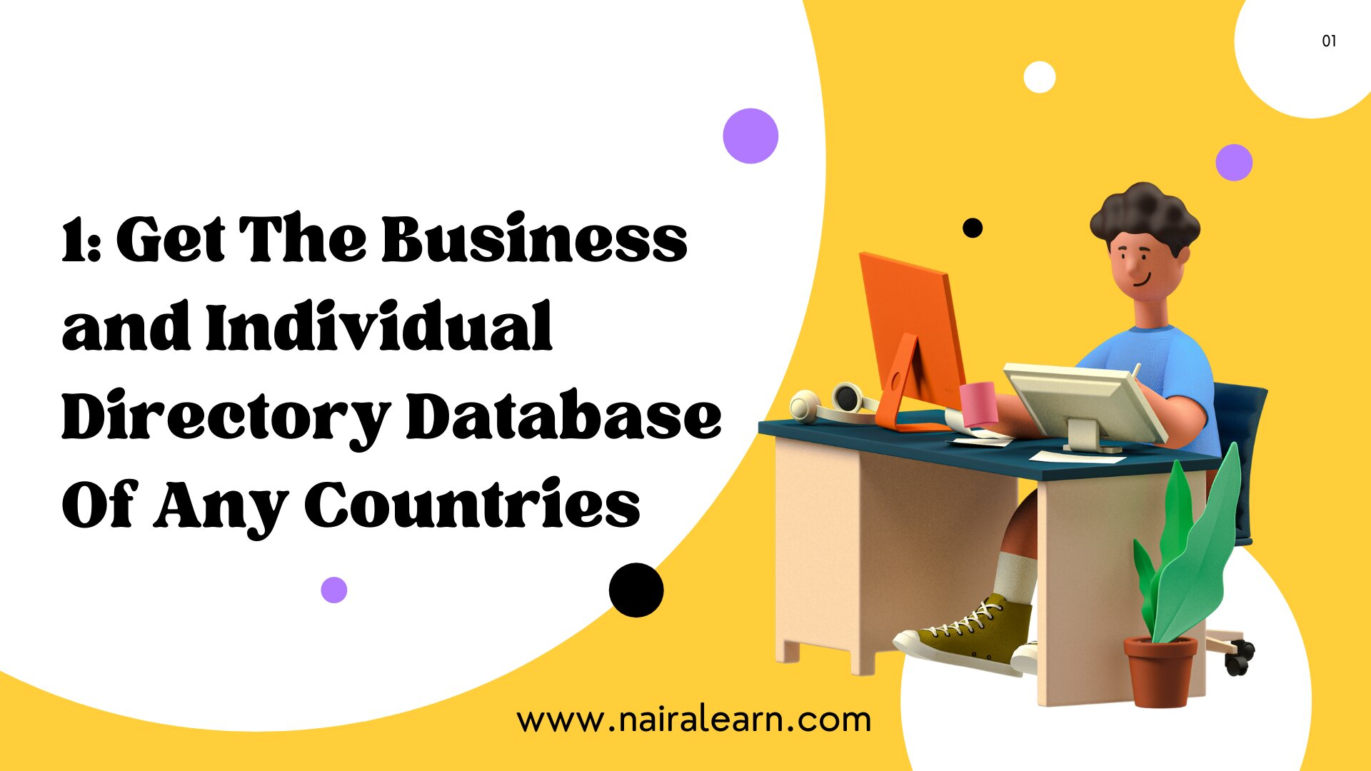 1 Get The Business and Individual Directory Database Of Any Countries