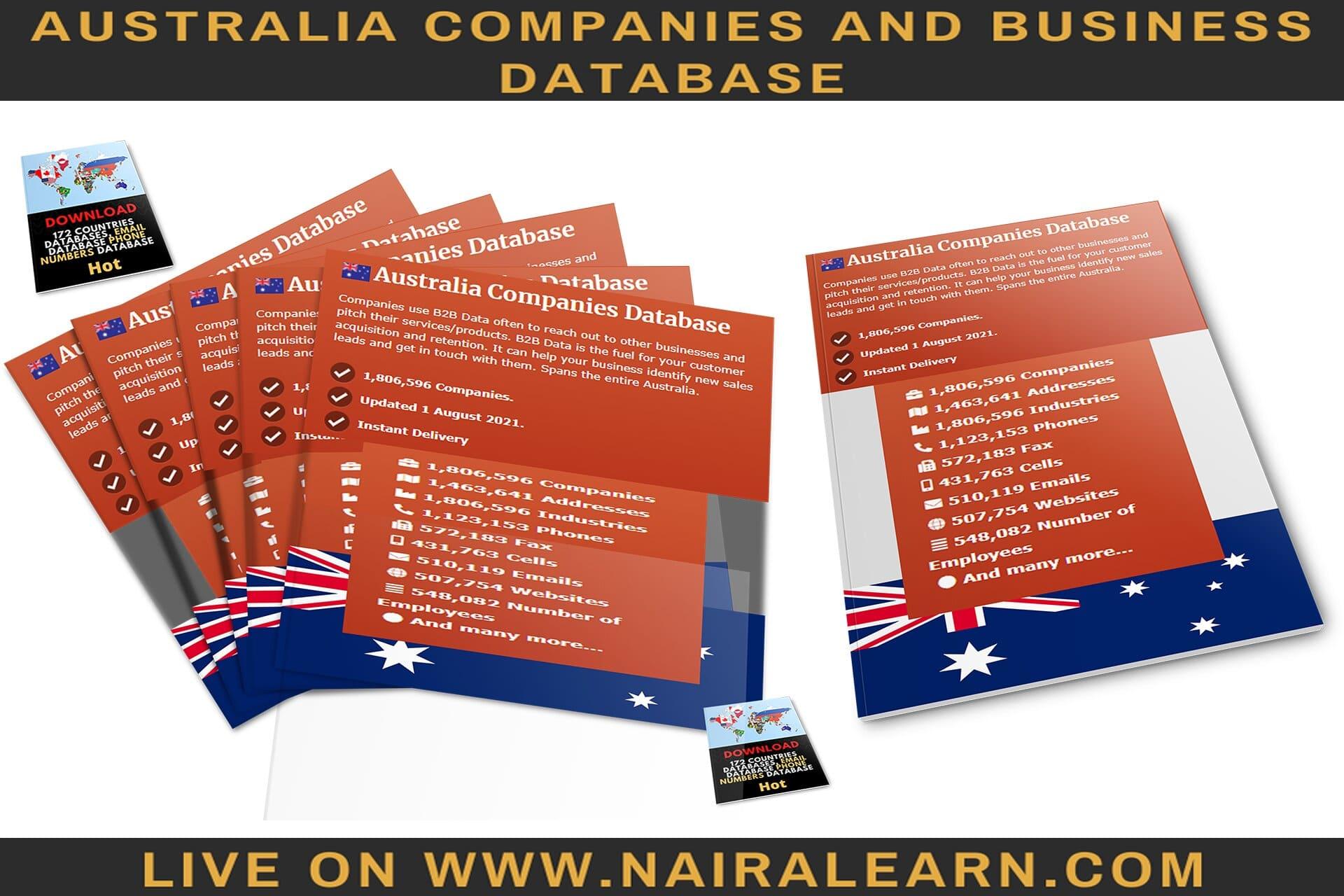 Australia Companies and Business Database