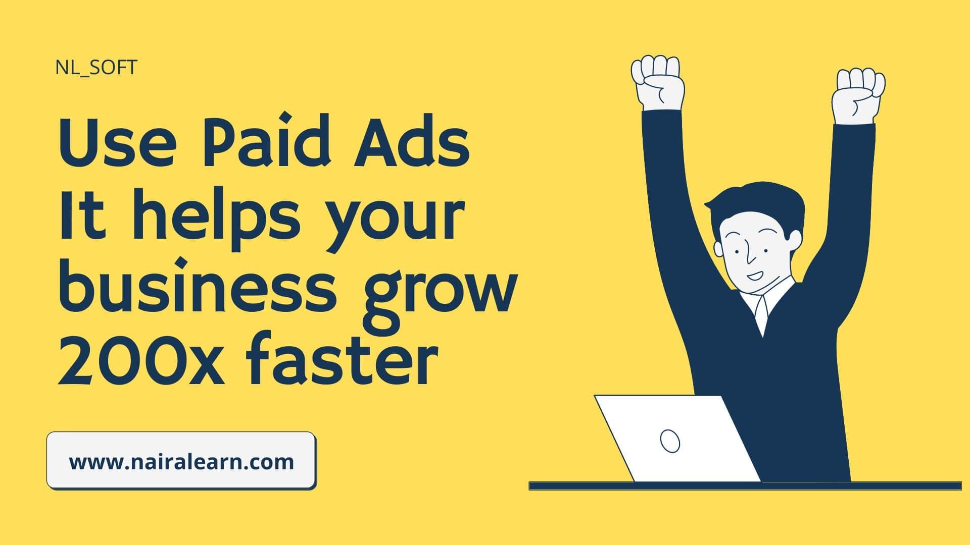 use paid ads